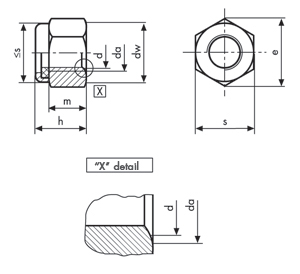Metallic screws and nuts : Self locking nuts : DIN 982