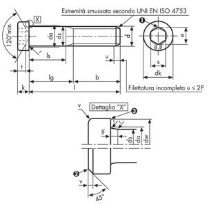 25 pezzi m1 6x16 testa cilindrica bassa viti DIN 7984 a2 in acciaio inox