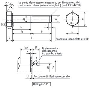 M5 x 30 mm viti esagonali con codolo ISO 4014 Viti a macchina con filettatura parziale Acciaio inox A2 V2A Viti a testa esagonale 8 pezzi DIN 931 antiruggine