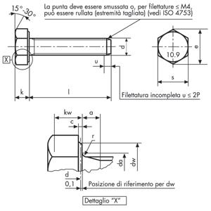 Bulloni a testa esagonale M10 x 180 con dadi e rondelle confezione da 4 grado 8.8 filettati zincati